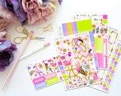 Summer Treats -- Horizontal Weekly Kit-- Matte Planner Stickers