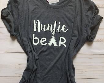 Aunt shirt / shirt for aunt / auntie bear shirt / soft shirt / comfy shirt / womens shirt / baby shower gift / gift for aunts