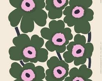 Marimekko Window curtain | Marimekko Unikko green curtain | Kitchen curtain | Nursery curtain | Custom size curtain | green curtain