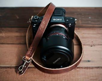 Camera Strap, Customized Wrist Strap, Leather Camera Strap, Thin Camera Strap, Customized Gift, Handmade