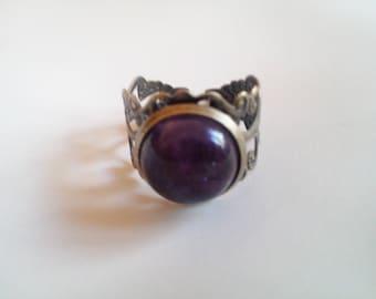 Anastasia brass Amethyst ring