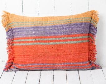 geometric decorative pillow case colorful pillow cover handwoven throw pillow boho decorative pillow
