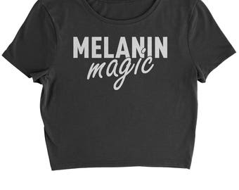 Melanin Magic Cropped T-Shirt