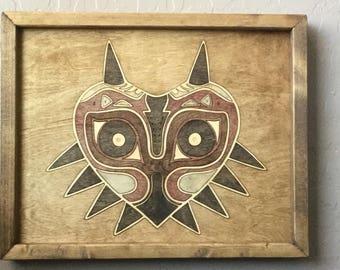 Majora's Mask Wooden Inlay Wall Art