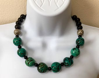 Amazon rain forest Tagua beads Silver and Black Onyx Everything in my Shop is 15% Off