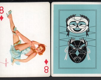 Alberto Vargas 1950's Vargas Girl Playing Card Swap Card 8 OF DIAMONDS Near Mint / Mint