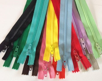 Zippers #3, variety of colors and length