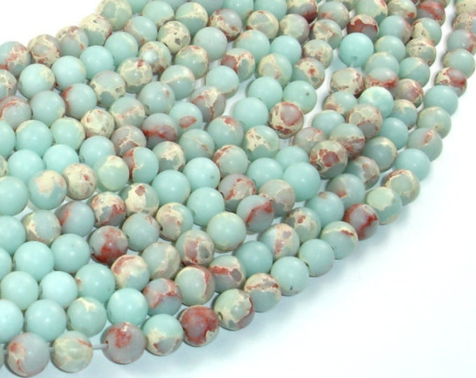 Matte Impression Jasper, 6mm(6.5mm) Round Beads, 15.5 Inch, Full strand, Approx 62 beads, Hole 1mm (281054036)