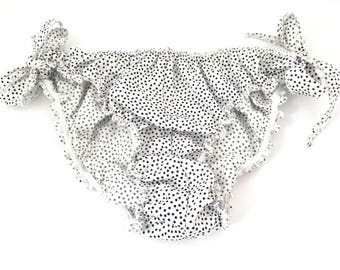 Panties/dots/black and white /culotte retro/cotton bow / / romantic/small panties knickers
