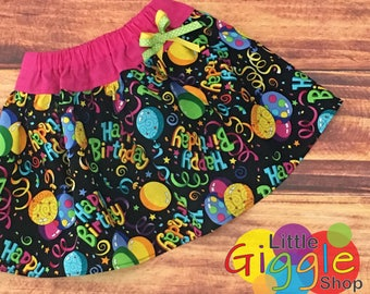 Girls Birthday Skirt, Baby Girl Birthday Skirt, Happy Birthday Skirt, First Birthday, 1st Birthday, Baby First Birthday, Handmade