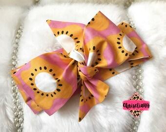 Floral Bloom Headwrap, Fabric Headwrap, Baby Headwrap, Toddler Headwrap, Bow Headwrap, floral headwrap, Newborn Headwrap