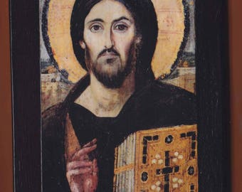 Christ Pantocrator, Monastery of St. Catherine of Sinai, Christian orthodox icon.FREE SHIPPING