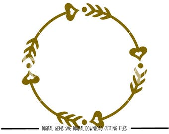 Arrow Circle svg / dxf / eps / png files. Digital download. Compatible with Cricut and Silhouette machines. Small commercial use ok.