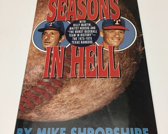 Seasons In Hell By Mike Shropshire 1996 Donald I. Fine Book Collectible Vintage Sports Books