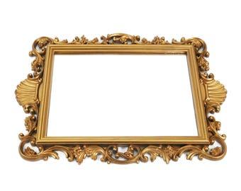"Vintage Homco Syroco Ornate Gilded Mirror 20"" x 14"" Vertical or Horizontal"