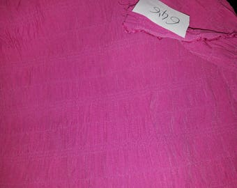 NO. 646 FABRIC COTTON POLYESTER RUFFLED SMOCKED FUSCHIA PINK
