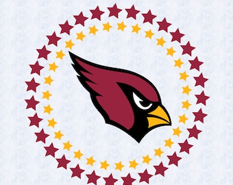 Arizona Cardinals SVG, DXF, studio file, cardinals cut file, logo, circle design, football, cricut, silhouette cameo