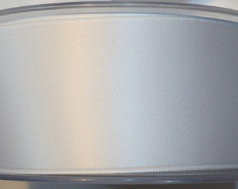 Double faced luxury 40 mm, white satin ribbon
