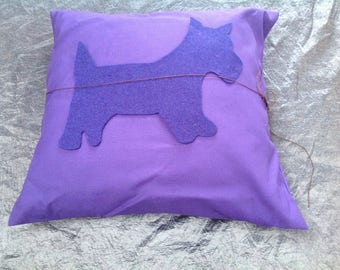 Scotty dog cushions