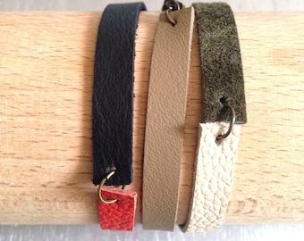 MIKADO 3 laps multicolor leather bracelet