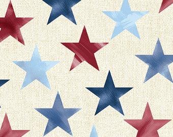 Patriotic Pride, Patriotic fabric, July 4th fabric, USA fabric, Stars Fabric, Memorial Day fabric, Veterans Fabric, by Benartex, 00966
