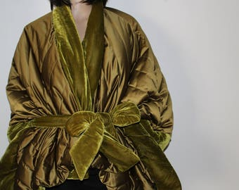 Jacket Pyrenex T S down feather panne velvet quilted satin new fleece cape
