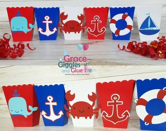 10 Nautical/Sailor Favor Boxes