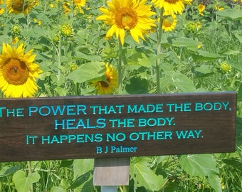 Chiropractor Chiropractic Art The Power that Made the Body Heals the Body