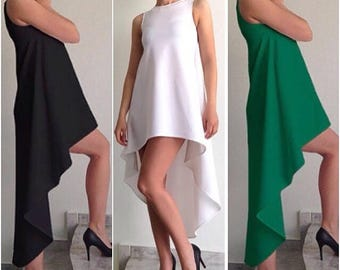 Asymmetric Dress/Women's Dress/White Dress/Comfortable dress/Extravagant Dress/Elegant  Dress