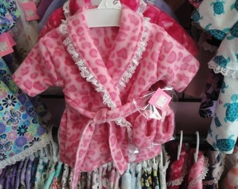 housecoat and slippers made to fit American girl and most 18 in. dolls