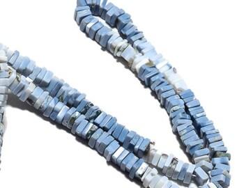 ON SALE 50% Blue Opal Heishi Beads, Natural Opal Beads, Peruvian Opal Beads, 6.5mm Heishi Beads, 16 Inch Strand, SKU-A100
