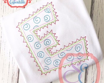DOODLE Font For Machine Embroidery- INSTANT DOWNLOAD