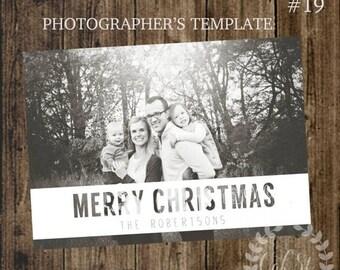 50% OFF PHOTOGRAPHER TEMPLATE Christmas Card, Client Christmas Card, Photoshop Template Christmas Card, Design #19