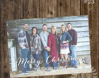 50% OFF Photo Christmas Card, Family Christmas Card, Simple Photo Card, Modern Christmas Card