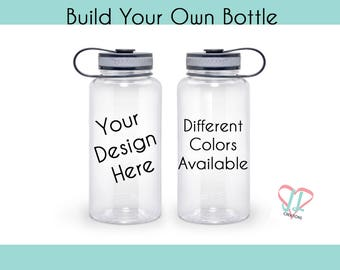 Build Your Own Water Bottle - Water Bottle - Personalized Water Bottle