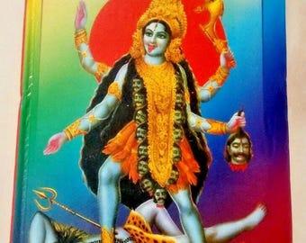 hindu goddess kali vintage prayer book, indian text
