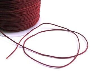 10 meters wire braided chocolate brown nylon 1 mm