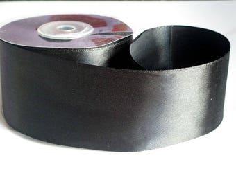 1 m 50mm black satin ribbon