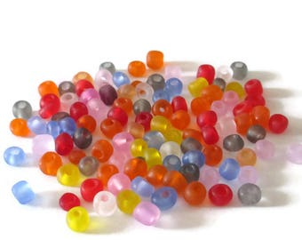 10gr frosted glass 4mm seed beads