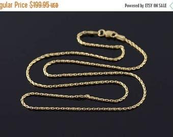 "Big SALE 14k 1.4mm Fancy Twist Link Chain Necklace Gold 18.75"""
