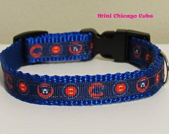 Mini Chicago Cubs Dog Collar