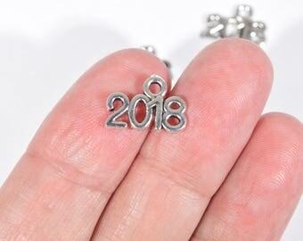 2018 Charms - Year 2018 Charms - Twelve 2018 Charms - Teacher Charms - New Mom Charms - Newlywed Charms - Newborn Charms - 2P1940