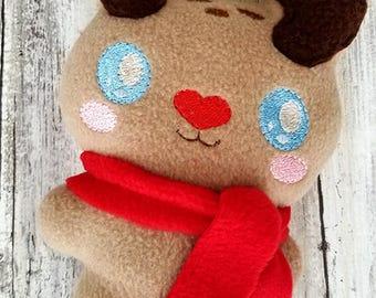 Rudolf Red Nose Stocking Stuffer Plushie - Kawaii Plush - Christmas Plush -  Soft Stuffed Animal -Soft toy