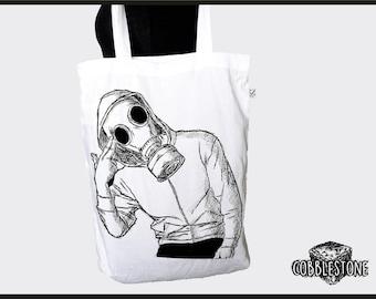 "Tote bag ""game over"" fair trade & organic"