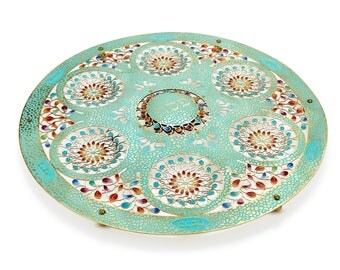 Seder Plate, Large Round Mosaic , Judaica Hand Made in Israel, Passover, Jewish Holidays, Seder pesach