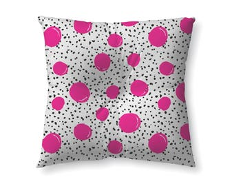 Hot Pink Polka Dots- floor pillow