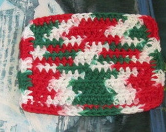 Hand crochet cotton dish cloth 6 by 6 cdc 093