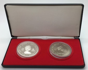 Canada  1952 - 1977 Four Governors General Queen Elizabeth Medallions Set 925 Fine Silver And Cupronickel Coin Collector Royal Canadian Mint
