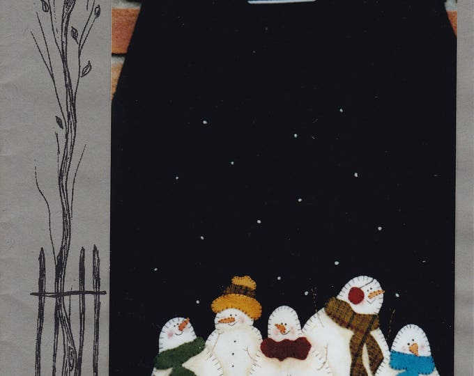 FREE US SHIP Craft Sewing Pattern Backyard Friends Group of Snowmen Snowman Frosted Flakes Shirt Applique 270 2002