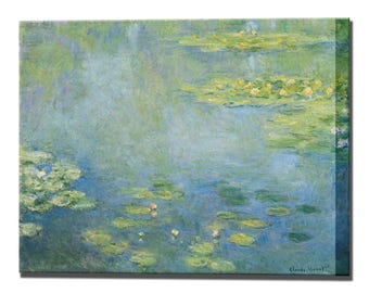 Waterlilies Claude Monet Canvas Print Home Decor Fine Art Wall Decor Impressionism Canvas Wall Art Print Wall Decor Ready To Hang